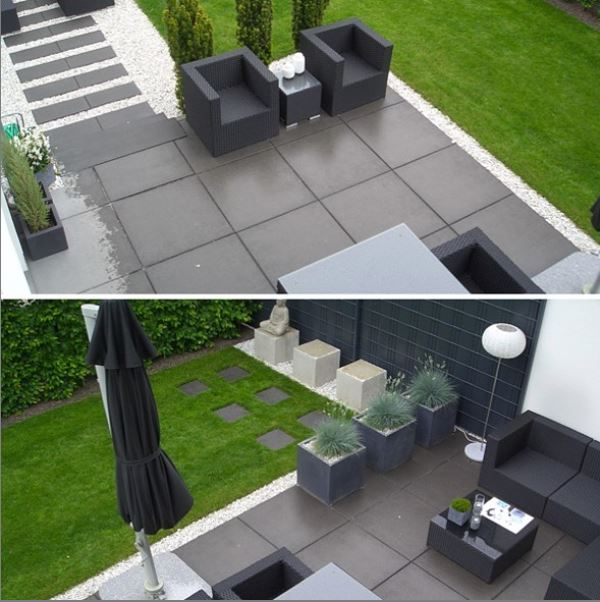 Artificial Grass in a large Back Garden with a Patio